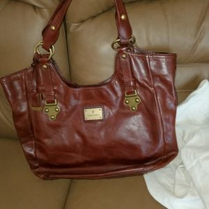 FRYE RARE XL BROWN LEATHER SATCHEL